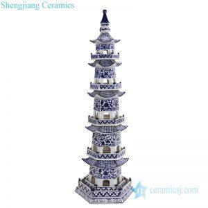 RZPI42_ Chinese ancient times pure hand made ceramic decorative pagoda