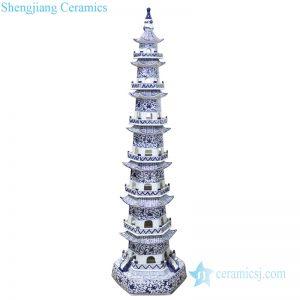 RZPI43 Chinese ancient times pure hand made ceramic decorative pagoda