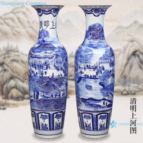 RZRi05-A Jingdezhen antique cracked glaze Kaiming porcelain vase