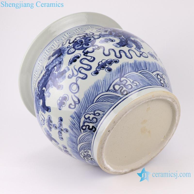 RZSD01 Chinese handmade blue and white dragon design ceramic pot