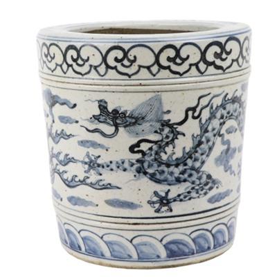 RZFB23-A Antique blue and white porcelain flower planter floor vase pot decorations for home