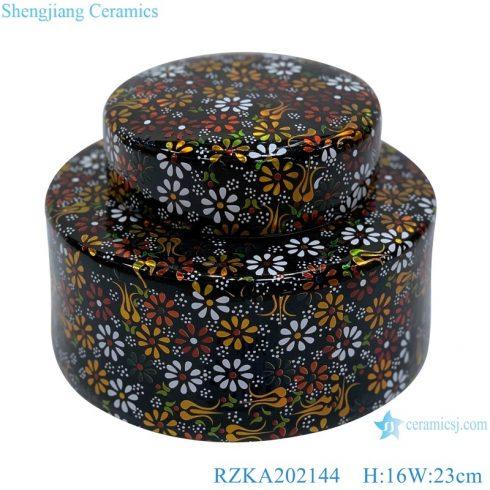 RZKA202144 Jingdezhen hand painting of flowers and plants pattern Chinese storage jars pot