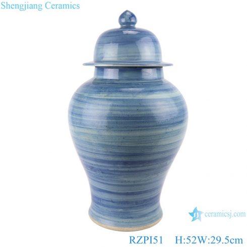RZPI51 Chinese Jingdezhen handmade porcelain blue striped storage pots ginger jars