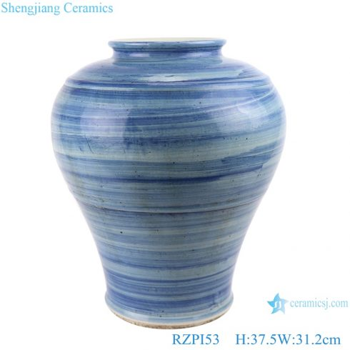 RZPI53 Home Table decoration Jingdezhen handmade porcelain blue striped vase