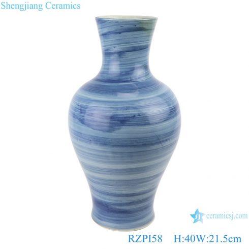RZPI58 Jingdezhen Vintage handmade ceramic blue striped porcelain small mouth vases