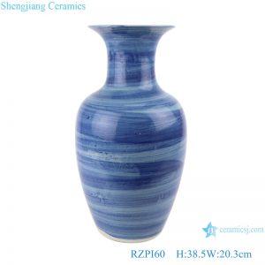 RZPI60 Antique Jingdezhen handmade craft porcelain blue striped porcelain decorative vases