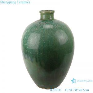 RZSP011 Antique color green glazed ceramic vase home living room table decoration flower arrangement